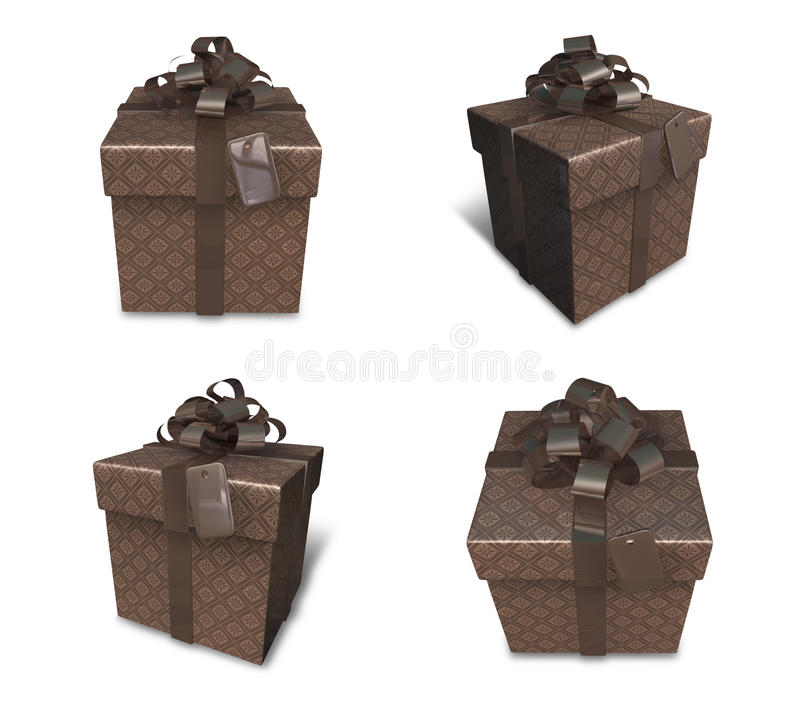 3d decorated brown gift