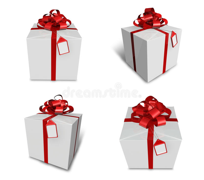 Download 3d decorated white gift stock illustration. Illustration of isolated - 19476835