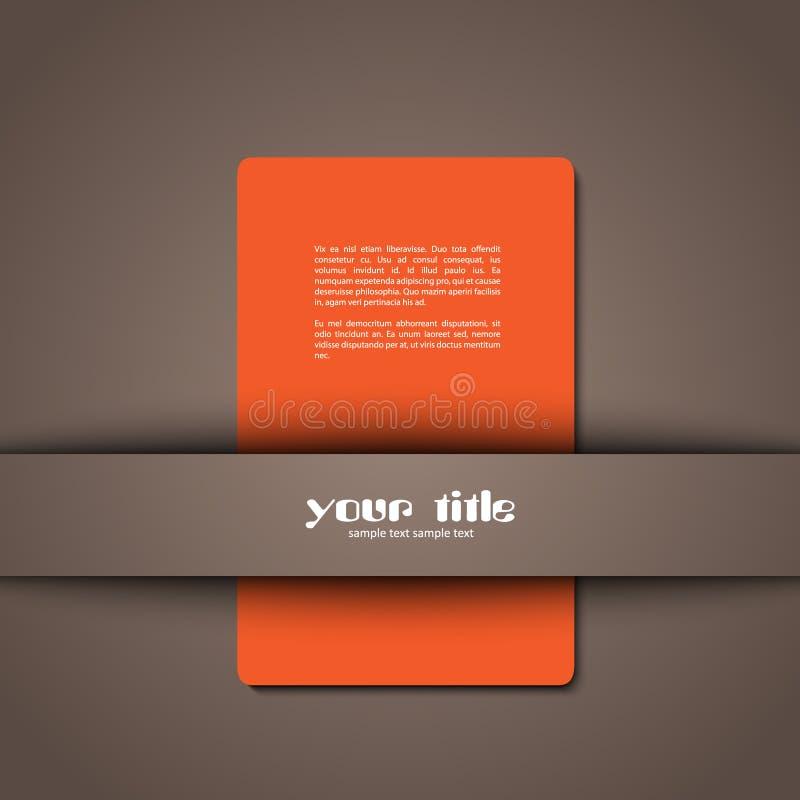 3d design of a card royalty free illustration