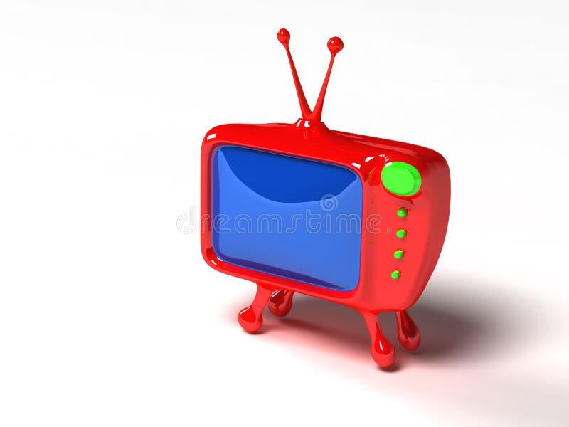 3D dessin animé TV illustration stock