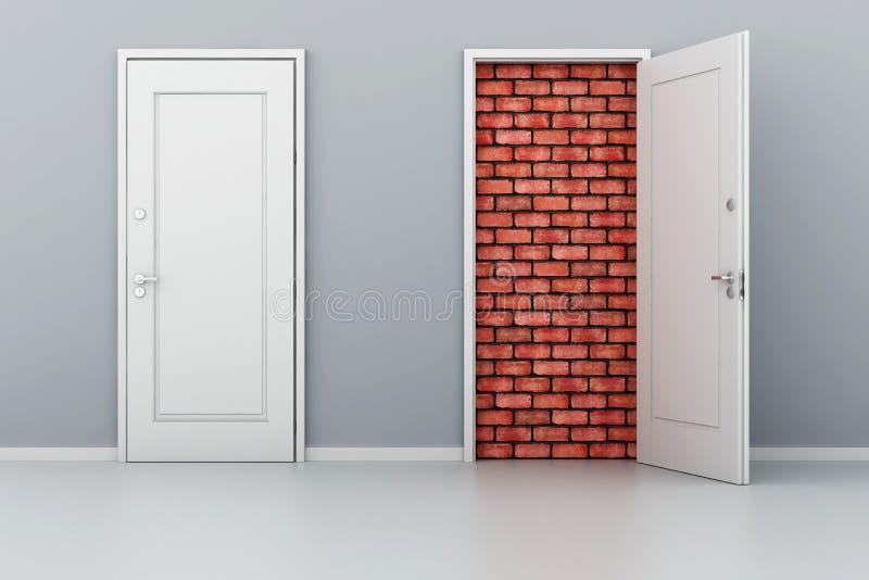 3d deur geen uitweg stock illustratie