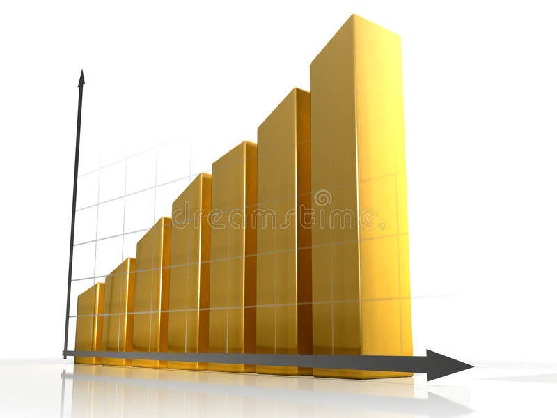3D Diagram 1 stock illustratie