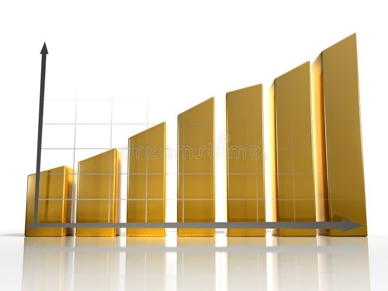 3D Diagram 3 stock illustratie