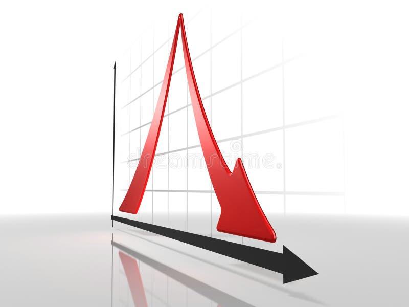 3d Diagram stock illustratie