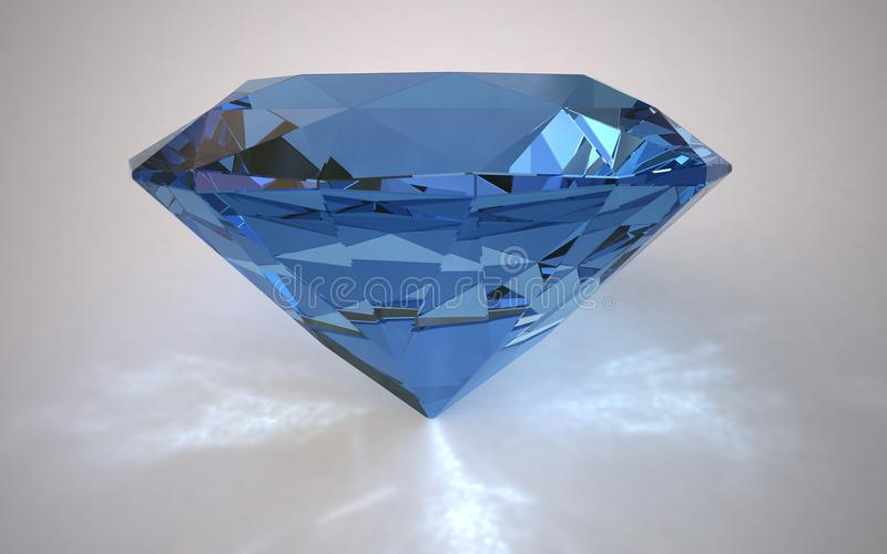 3d diamant royalty-vrije illustratie