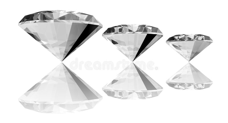 3d Diamanten vector illustratie