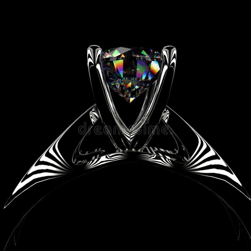 3d diamond ring royalty free stock photo