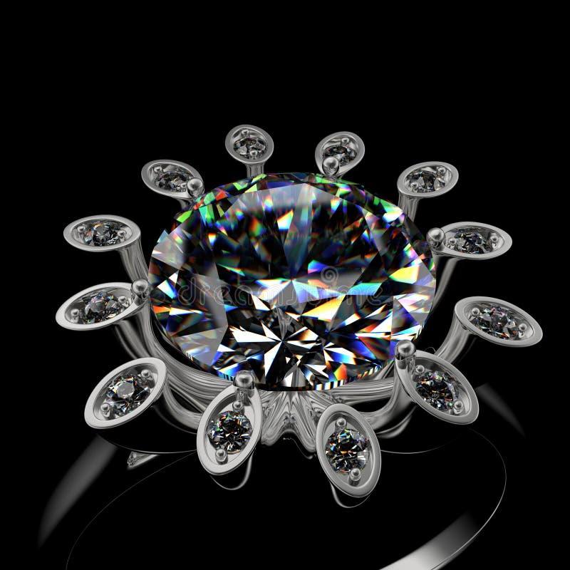 3d diamond ring royalty free stock photos