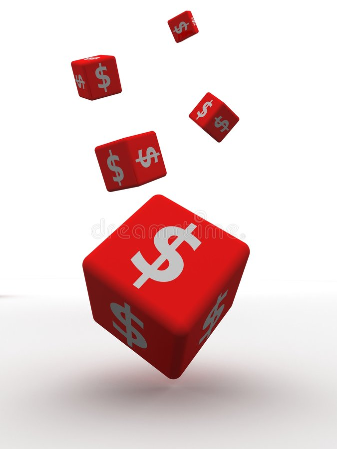 Free 3d Dice Dollar Royalty Free Stock Images - 6393739