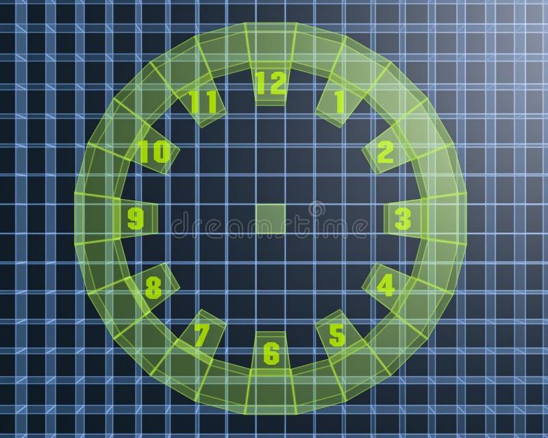 Download 3D digital clock stock illustration. Image of technology - 26422751