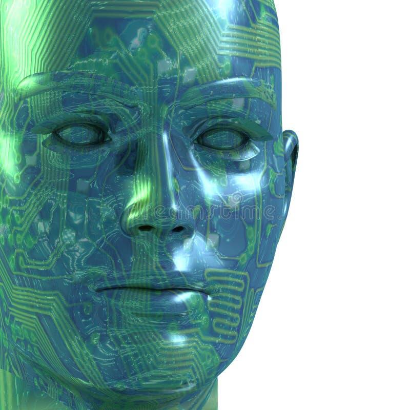 3D Digital Kopf stock abbildung