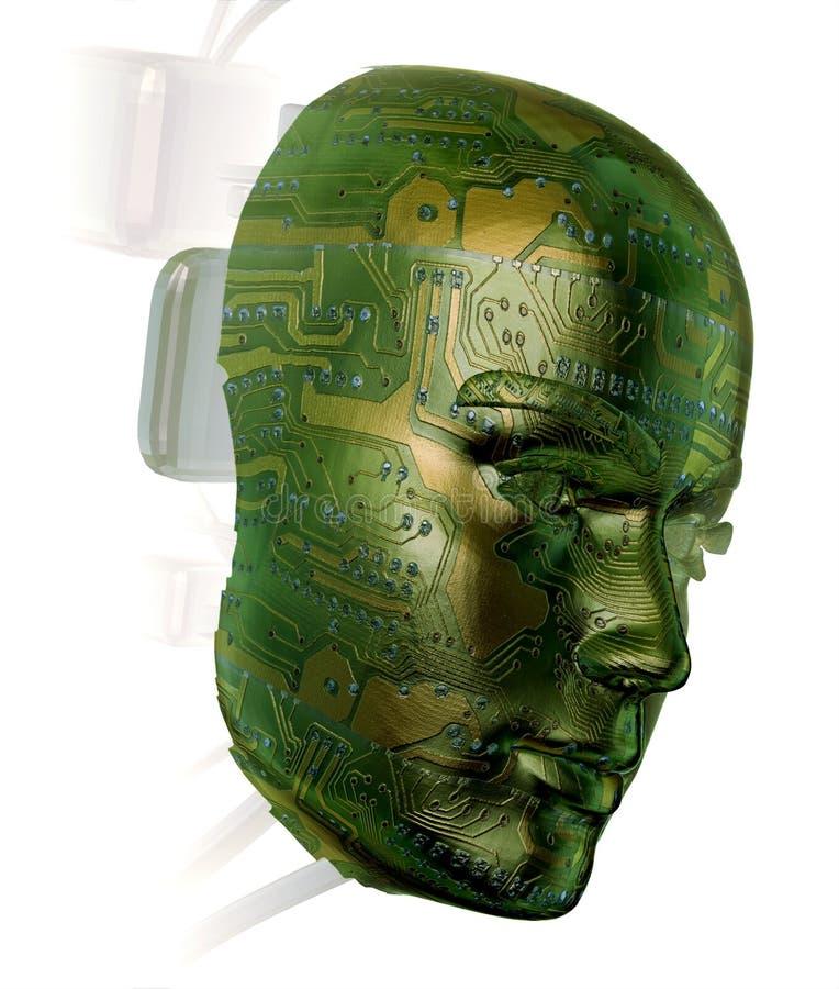 3D Digital Mensch lizenzfreie abbildung