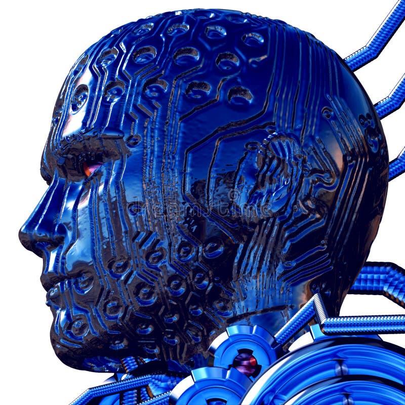 3D Digital Overlord vektor abbildung