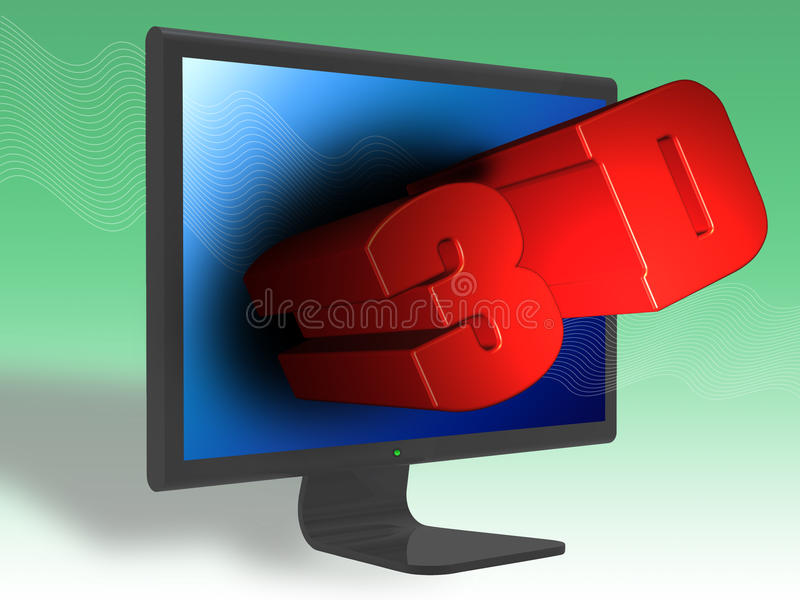 3D digital TV stock photo