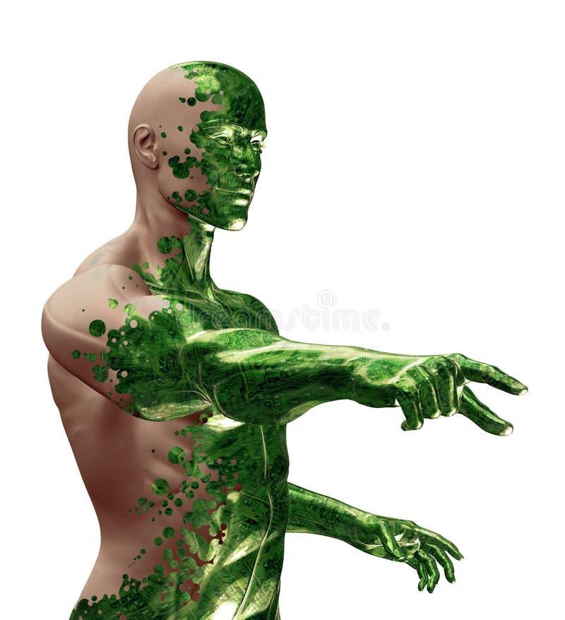 3D Digitale Bionische Technologie royalty-vrije illustratie