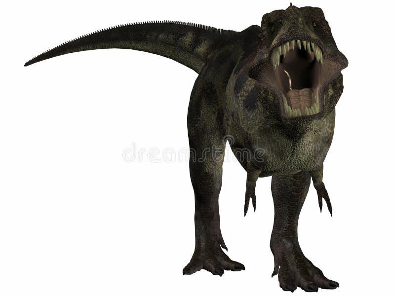 3d dinosaura tyrannosaurus royalty ilustracja