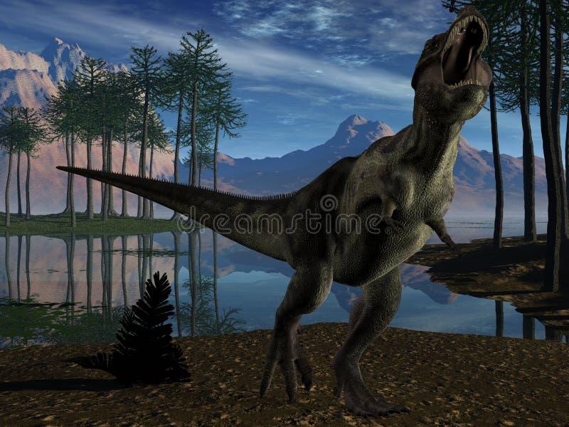 3d dinosaura tyrannosaurus ilustracja wektor