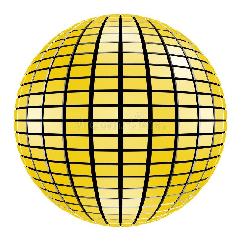 3D Disco Party Mirror Ball Mirrorball stock illustration