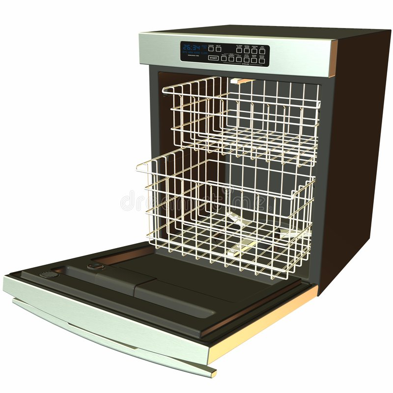 Free 3D Dishwasher -Open Stock Photography - 1395752