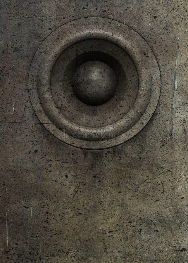 3d dj grunge老合理的扬声器系统 皇族释放例证