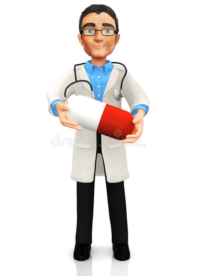 Download 3D doctor stock illustration. Image of character, three - 21220519