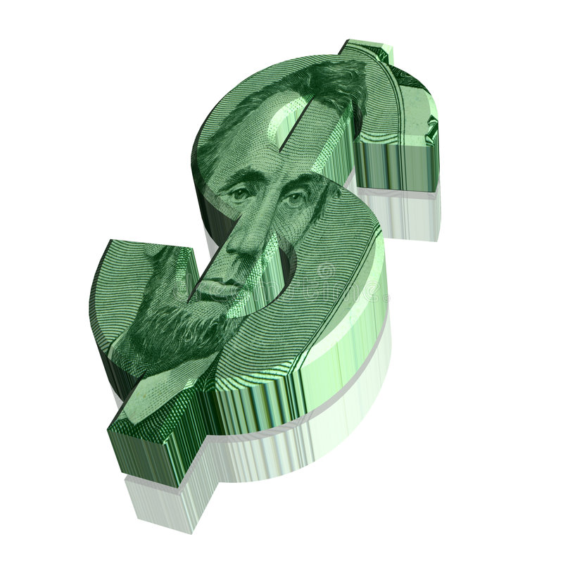 3D Dollar Currency Sign Symbol stock photo