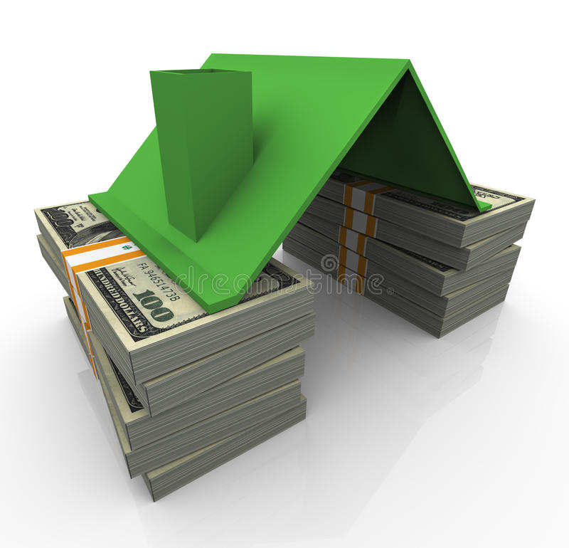 3d dollar house vector illustration