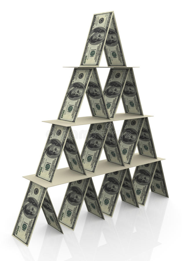 Free 3d Dollar Pyramid Royalty Free Stock Images - 20431139