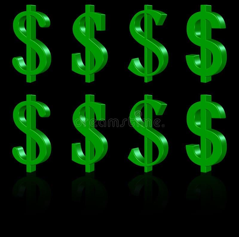 Free 3D Dollar Symbols Stock Image - 11004661