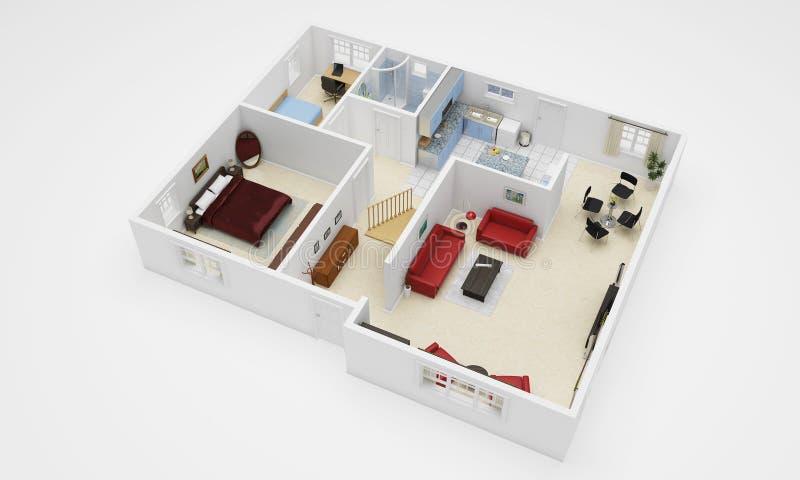 3d dom ilustracji