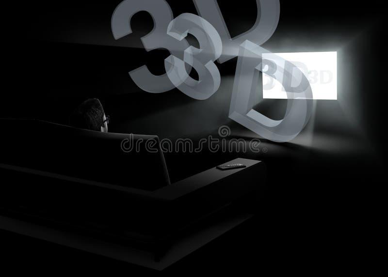 3d domestico TV illustrazione vettoriale