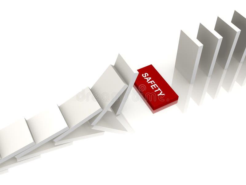 3d Domino造成缝隙图象安全性白色 皇族释放例证