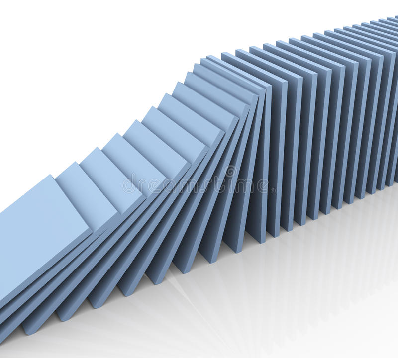 3d Domino 向量例证