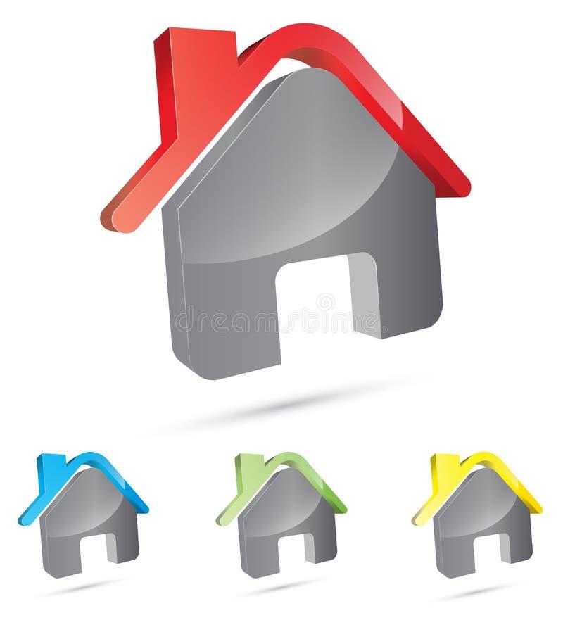 3d domowa ikona ilustracja wektor