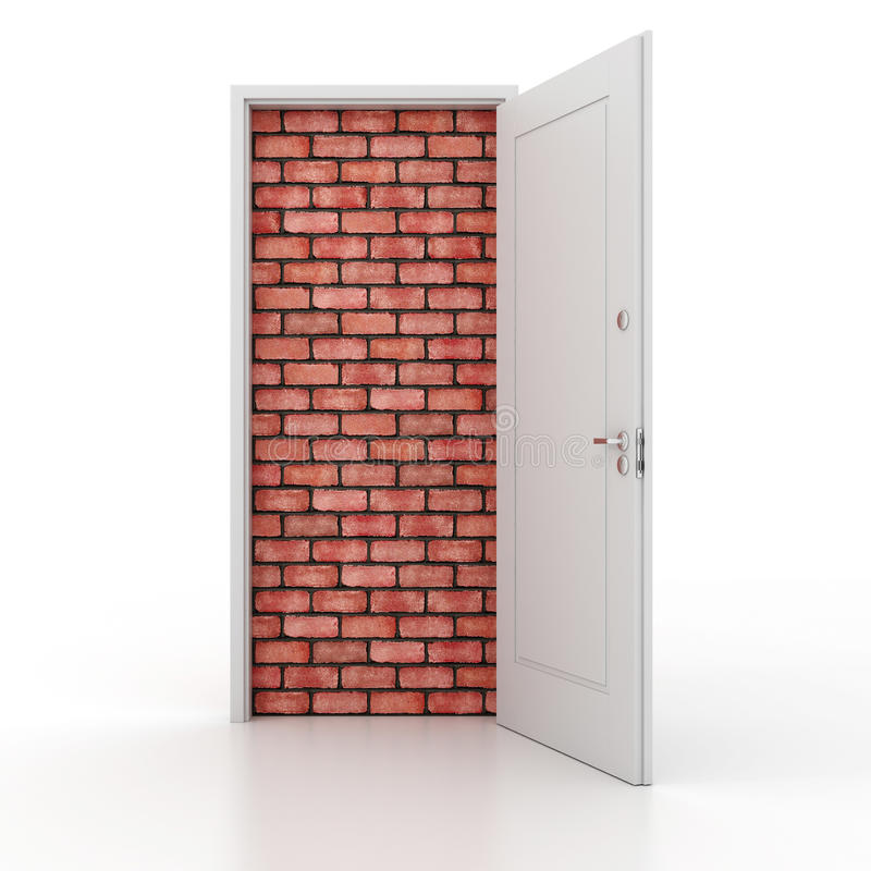 Free 3d Door No Way Out Stock Photography - 27653952