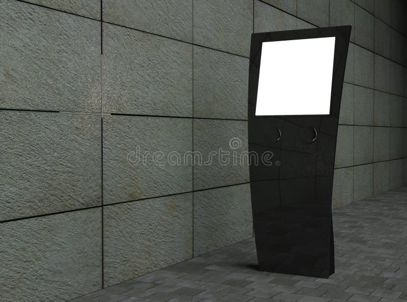 3d dotyka pusty uliczny ekran ilustracji