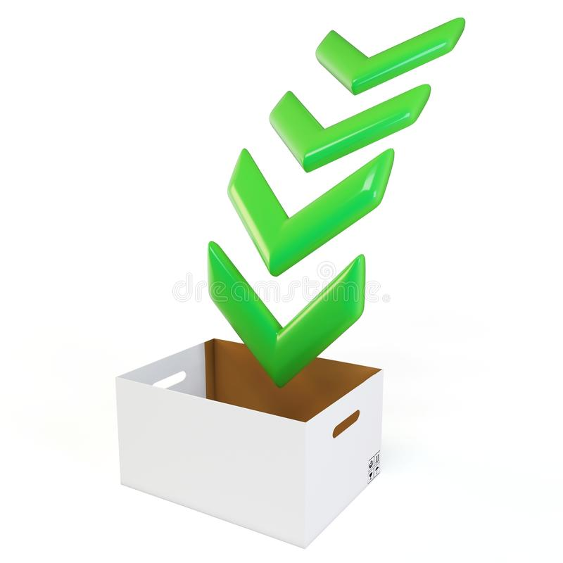 Download 3d Download Box With Green Arrows Stock Illustration - Image: 20757634