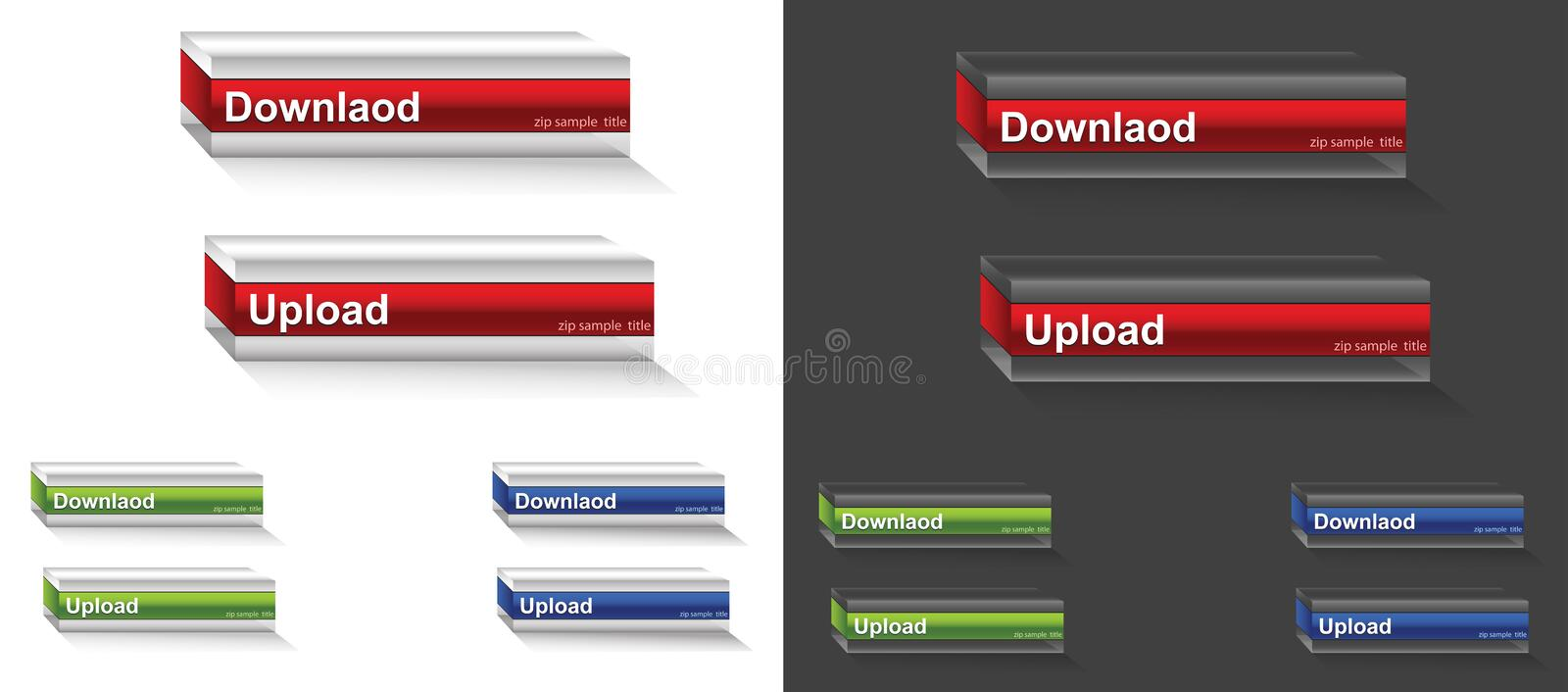 Download 3D Download button stock vector. Image of network, http - 23870615