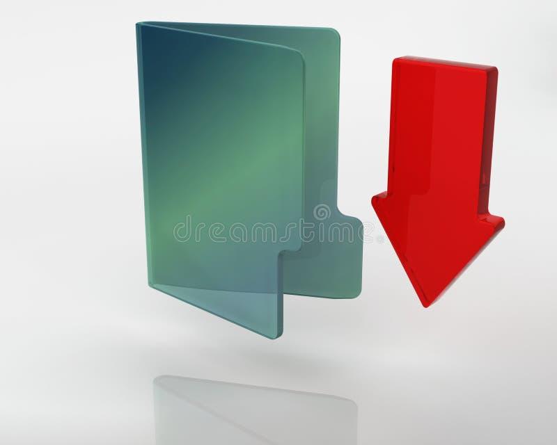 3D downloadpictogram royalty-vrije illustratie