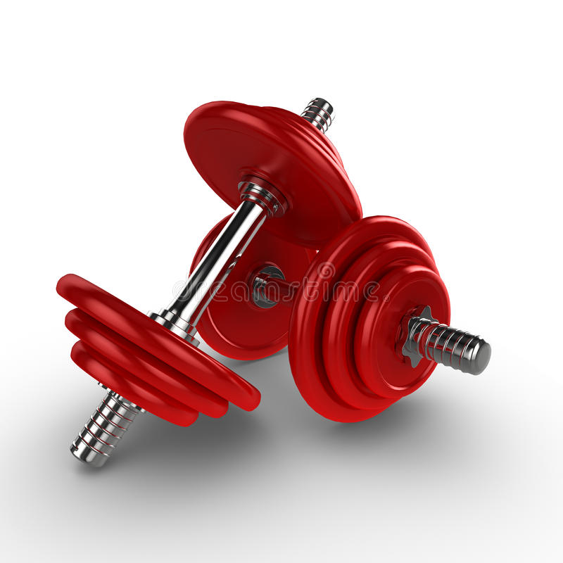 3d dumbells royalty free illustration