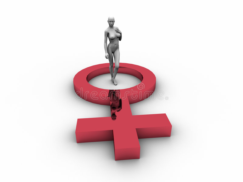 3D Dummy with Female Symbol