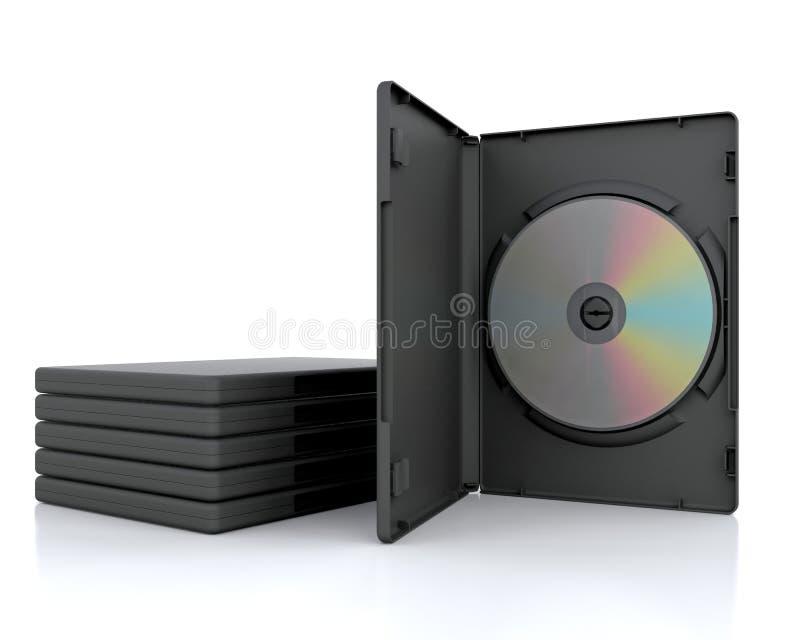 3D DVD Fall lizenzfreie abbildung