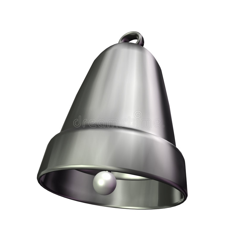 3d dzwonu srebro ilustracji