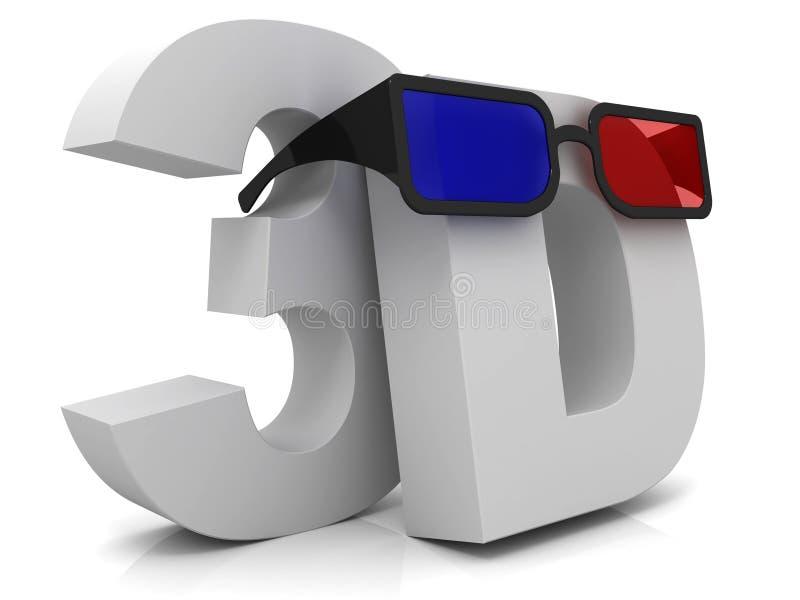 3D e vetri illustrazione vettoriale