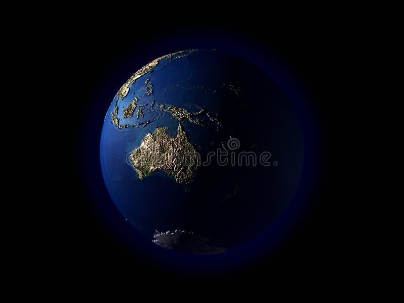 3D Earthï ¼ Terrainï ¼ Oceanië Royalty-vrije Stock Fotografie