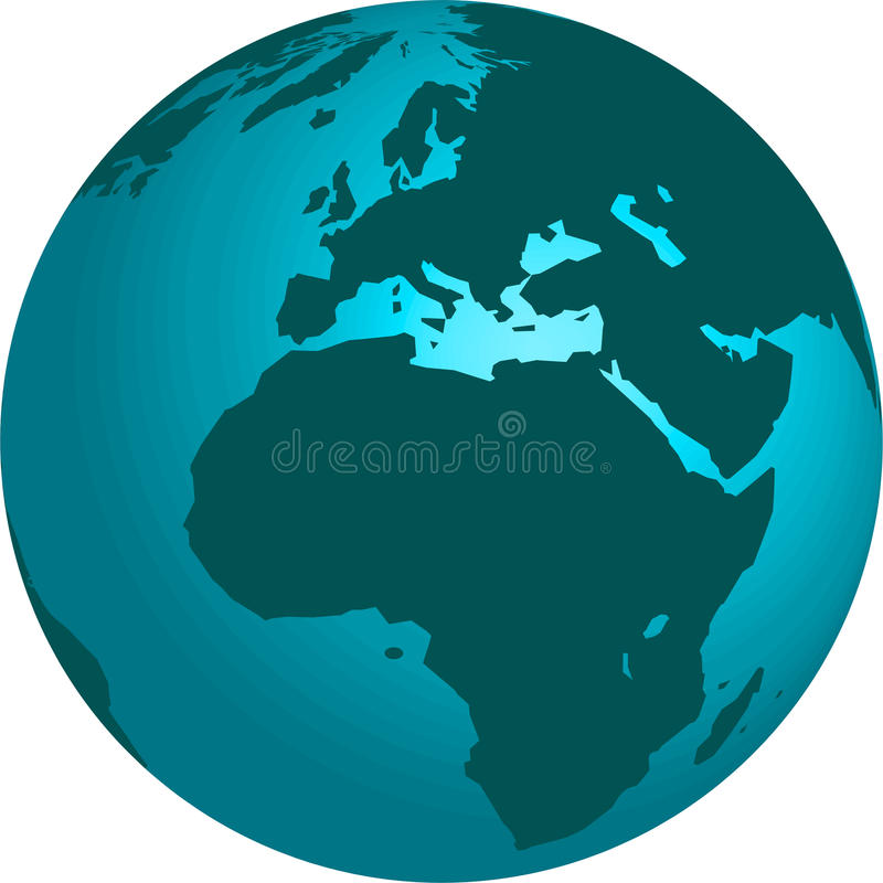 3d earth globe stock illustrationer