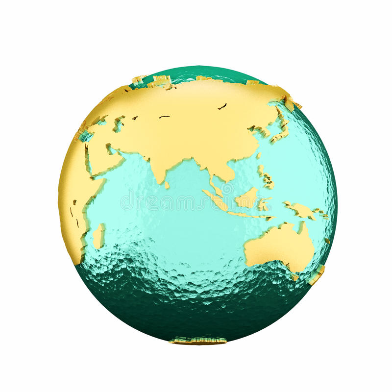 Free 3d Earth Globe Royalty Free Stock Photography - 91802577