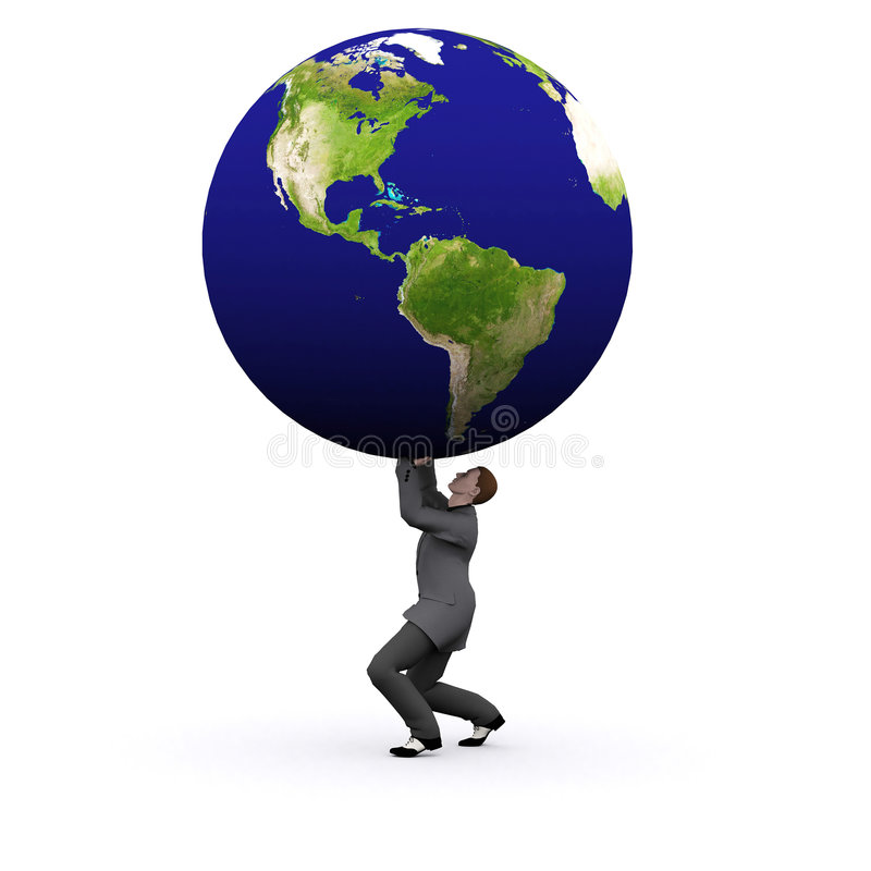 Download 3d Earth And Man Stock Image - Image: 1833311