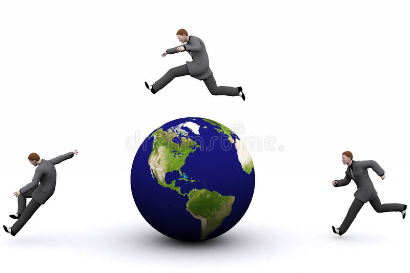 3d earth and man royalty free stock images