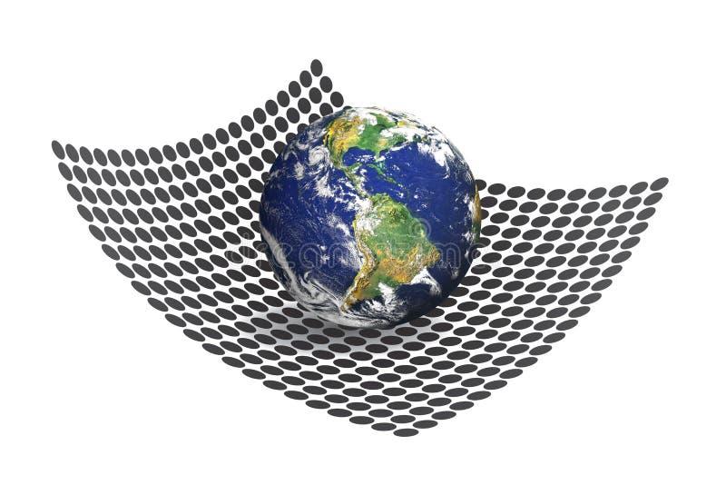 Download 3D Earth Matrix stock illustration. Illustration of grid - 15463801